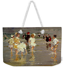 Children On The Beach Weekender Tote Bag by Edward Henry Potthast