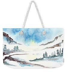 Children's Book Illustration Of Mountains Weekender Tote Bag