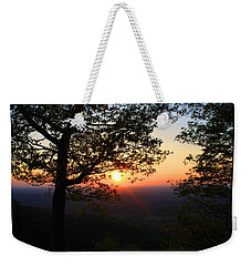 Weekender Tote Bag featuring the photograph Chilhowee Sunset by Kathryn Meyer