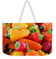 Chili Peppers Weekender Tote Bag by Kristin Elmquist