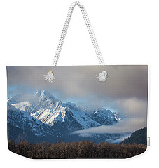 Chilkat Mountains With Clearing Fog Weekender Tote Bag
