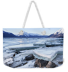 Chilkat River Ice Chunks Weekender Tote Bag