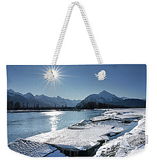 Chilkat River With Ice Chunks Weekender Tote Bag