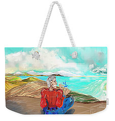 Chillin' Caricature Joe Weekender Tote Bag