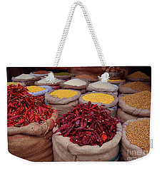 Chilliy Peppers Weekender Tote Bag by Mini Arora