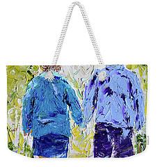 Chilly Spring Walk Weekender Tote Bag
