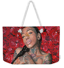 Weekender Tote Bag featuring the painting China Dawl by Baroquen Krafts
