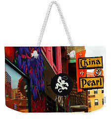 China Pearl Sign, Chinatown, Boston, Massachusetts Weekender Tote Bag