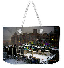 Weekender Tote Bag featuring the photograph Chinatown Rooftops In Winter by Chris Lord