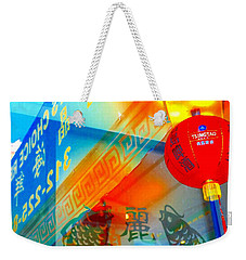Chinatown Window Reflection 3 Weekender Tote Bag by Marianne Dow
