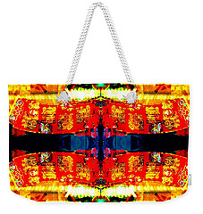 Chinatown Window Reflection 5 Weekender Tote Bag by Marianne Dow