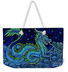 Chinese Azure Dragon Weekender Tote Bag