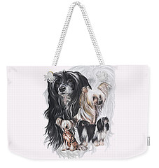Chinese Crested And Powderpuff W/ghost Weekender Tote Bag by Barbara Keith