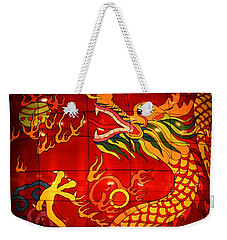 Chinese Dragon Weekender Tote Bag