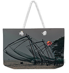 Chinese Fishing Nets, Cochin Weekender Tote Bag by Marion Galt