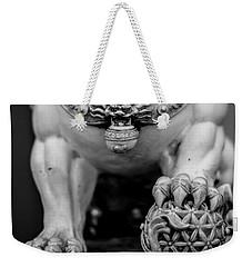 Chinese Guardian Lions Shishi Weekender Tote Bag by Silvia Bruno