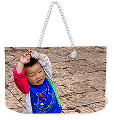 Chinese Boy Joy Weekender Tote Bag
