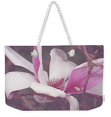 Weekender Tote Bag featuring the photograph Chinese Magnolia Bloom by Toni Hopper