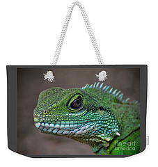 Weekender Tote Bag featuring the photograph Chinese Water Dragon by Savannah Gibbs