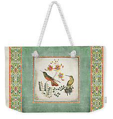 Chinoiserie Vintage Hummingbirds N Flowers 1 Weekender Tote Bag