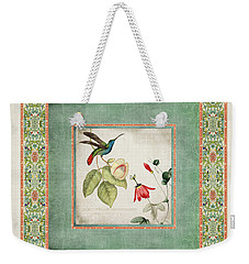 Chinoiserie Vintage Hummingbirds N Flowers 2 Weekender Tote Bag
