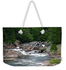Weekender Tote Bag featuring the photograph Chippewa Falls And River by Rachel Cohen