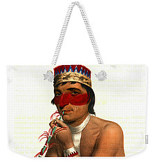Weekender Tote Bag featuring the photograph Chippeway Chief 1836 by Padre Art