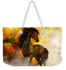 Chitto Black Spirit Horse Weekender Tote Bag