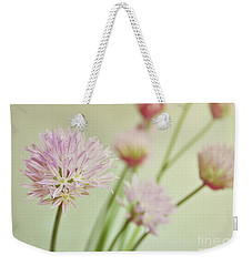 Weekender Tote Bag featuring the photograph Chives In Flower by Lyn Randle