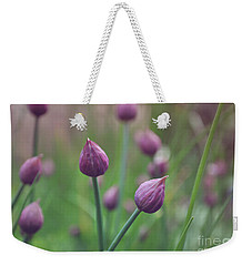 Weekender Tote Bag featuring the photograph Chives by Lyn Randle