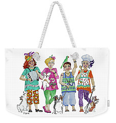 Chix Weekender Tote Bag by Rosemary Aubut