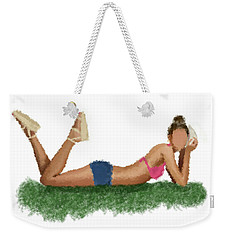 Weekender Tote Bag featuring the digital art Chloe by Nancy Levan