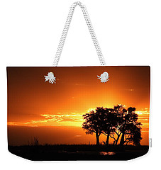 Weekender Tote Bag featuring the photograph Chobe River Sunset by Betty-Anne McDonald