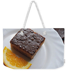 Chocolate And Orange Weekender Tote Bag by Marija Djedovic
