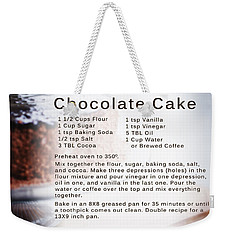 Chocolate Cake Recipe Weekender Tote Bag