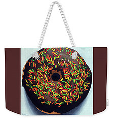 Chocolate Donut And Sprinkles Large Painting Weekender Tote Bag