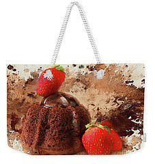 Weekender Tote Bag featuring the photograph Chocolate Explosion by Darren Fisher