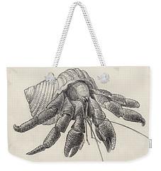 Chocolate Hermit Crab Weekender Tote Bag