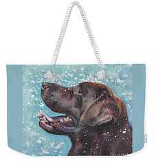 Chocolate Labrador Retriever Weekender Tote Bag