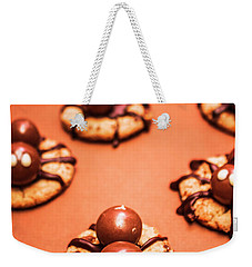 Chocolate Peanut Butter Spider Cookies Weekender Tote Bag by Jorgo Photography - Wall Art Gallery