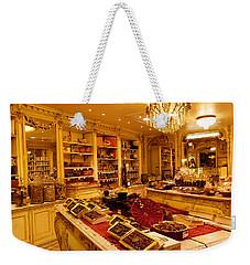 Chocolate Shop Weekender Tote Bag by Margaret Brooks