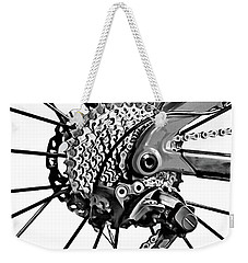 Weekender Tote Bag featuring the digital art Choice Transport 2 Bw by Wendy J St Christopher