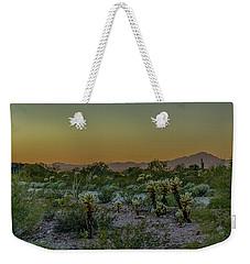 Cholla Desert Sunset Weekender Tote Bag