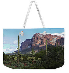 Cholla  Saguaro Superstition Mountain Weekender Tote Bag