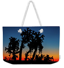 Weekender Tote Bag featuring the photograph Cholla Silhouettes by Rick Furmanek