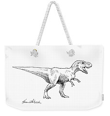 Tyrannosaurus Rex Dinosaur T-rex Ink Drawing Illustration Weekender Tote Bag