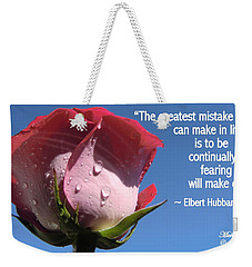 Choose Your Quote Choose Your Picture 24 Weekender Tote Bag
