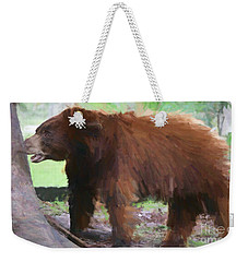 Weekender Tote Bag featuring the painting Chomper by Judy Kay