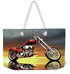 Weekender Tote Bag featuring the photograph Chopper by Steven Agius
