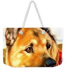 Chow Shepherd Mix Weekender Tote Bag by Marilyn Jacobson